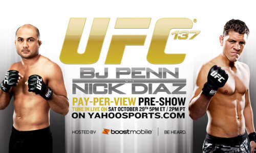 BJ Penn vs Nick Diaz at UFC 137. Who're you rooting for?