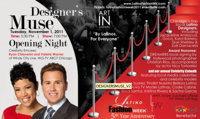 Latino Fashion Week 2011 kicks off November 1st in Chicago. For all you Latino's into Fashion, check out our blog for updates from the shows.