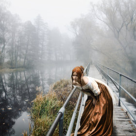 Girl on a bridge *** by Miguel Colinet