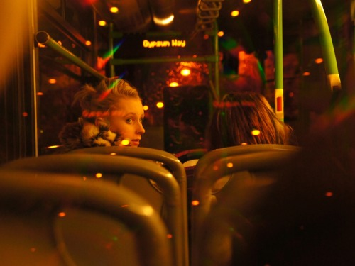 Night bus. Nottingham 29/10/2011.