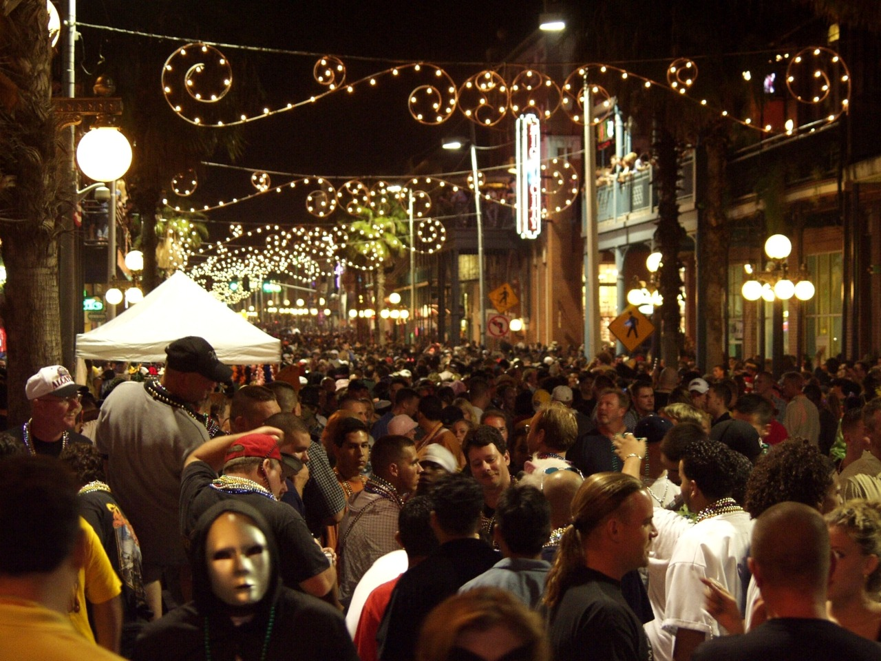 "hipstertampa:  Guavaween tonight in Ybor.   Guavaween is an annual Latin-flavored Halloween celebration which takes place on the last Saturday of October in the historic neighborhood of Ybor City onTampa, Florida. It is named after Tampa's nickname, ""The Big Guava"".   Get crazy, but stay safe, and above all else for god's sake post pictures tomorrow."