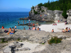 This is Tobermory in Ontario, Canada. it is, without a doubt, the most beautiful place I've ever been. submitted by: ragingelegance, thanks!