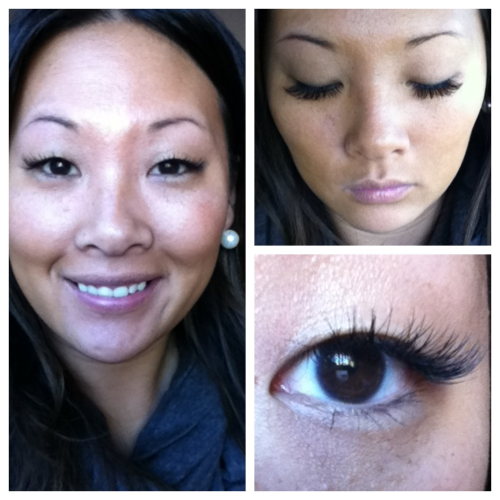 I finally decided to go ahead and try eyelash extensions. And so far…I love them.  They look more natural than my fake eyelashes. And while they're not AS dramatic…its easier just to swipe a cost of mascara over them in the morning and go. No more messing with glue! The upkeep is a little more work and washing my face takes a little more concentration (so I don't yank them out) but overall, I just like them better.