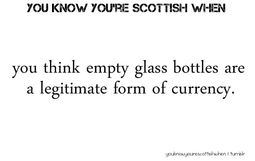 youknowyourescottishwhen:  Submitted by | pugfan1993  Damn dirty Firey Irn Bru bottle doesn't have the deposit stuff on the cap like usual… Maybe Barr aren't expecting them back?Also awesome: Barr release Halloween versions of their drinks. Like SPOOKY! Barr Cola.