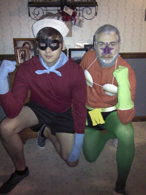 Mermaid man and Barnacle boy. Gotta love it.