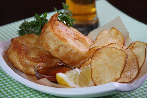 Vegan Fish and Chips! Soy free & gluten free! Bake it instead.