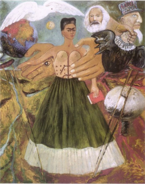 "fuckyeahmarxismleninism:  ""Marxism Will Heal the Sick"" by Frida Kahlo"
