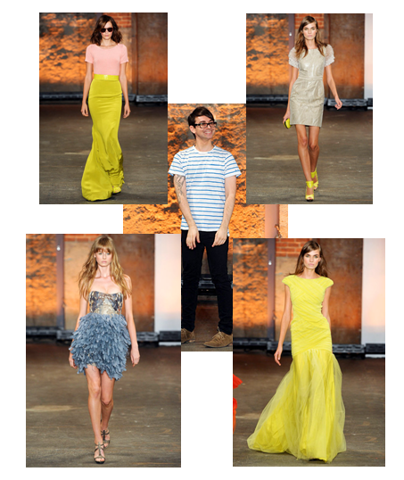This is one of my favorite Spring 2012 RTW collections, made by Christian Siriano!  These are a few of my favorite looks from his show :)