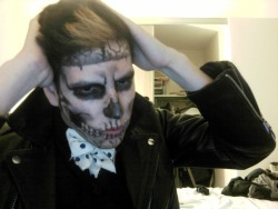 atimos:  My Rick Genest inspired costume for tonight.  lol how did this get notes???