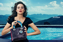 (via Marion Cotillard for Lady Dior Handbags Campaign by Steven Klein)