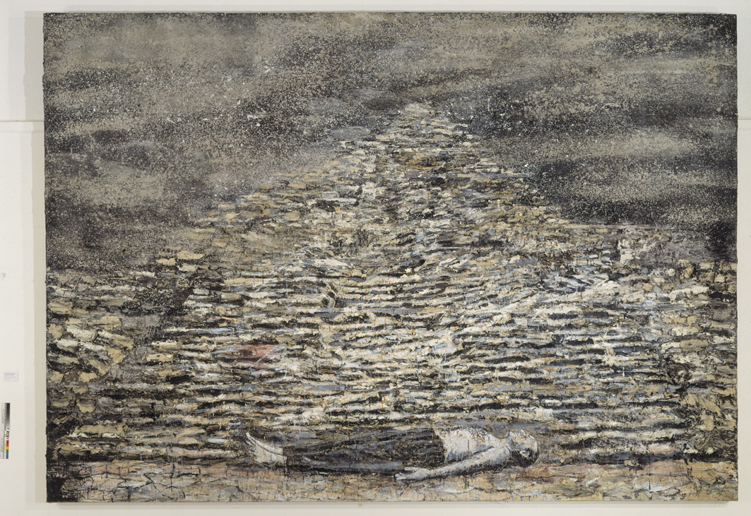 the-unnamable:  Anselm Kiefer View it in high-res: it's amazing. I'd love to see his works in person so I can experience the full impact of the scale and the texture of his paintings.