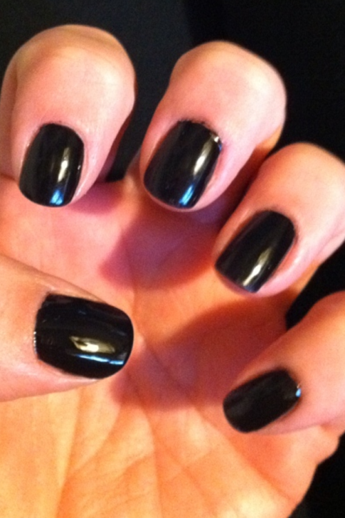 Black on Black #nails #blackmagic #milani