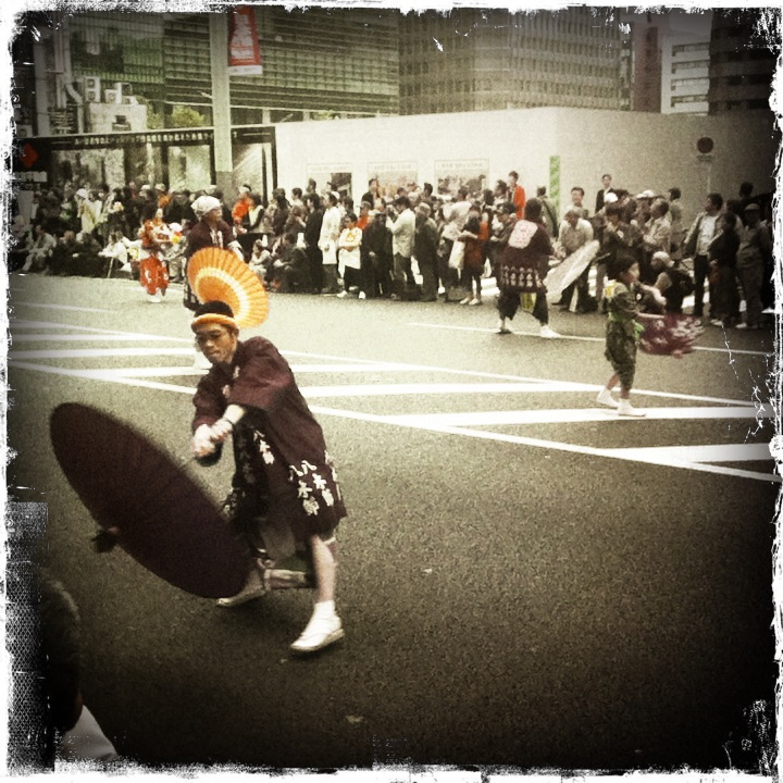 Dancer in parade #2, Nihonbashi.