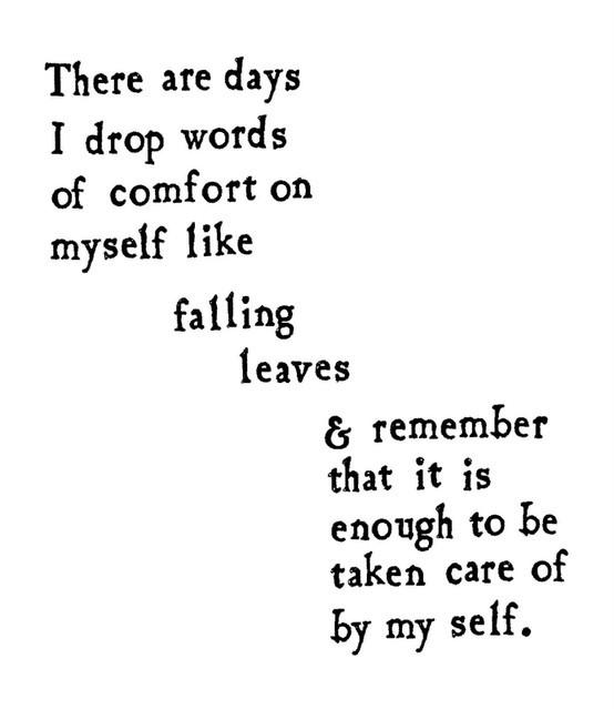 thatcub:  Remember….self care.
