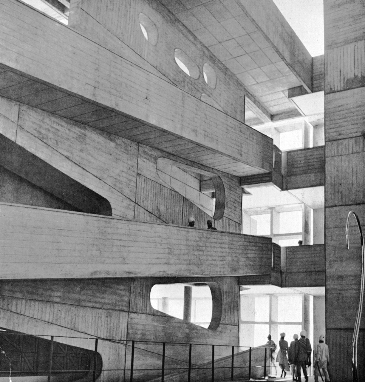 Ramped.  High Court, Chandigarh, India, 1950-54 (Le Corbusier)