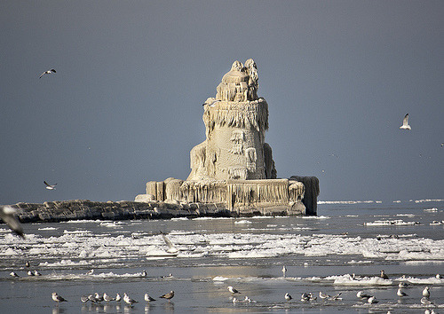 Frozen Cleveland Lighthouse | Cleveland, Ohio©  Albino ©