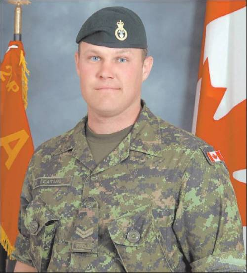 fuckyeahcanadianforces:  Shane Keating Died at the age of 30 on September 18 2006 in Panjwai District when a suicide bomber attacked his foot patrol, killing him and three other Canadian troops. [WILL BE EXPANDED LATER]