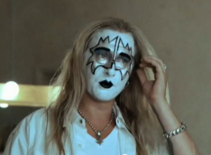 Jerry Cantrell with KISS makeup