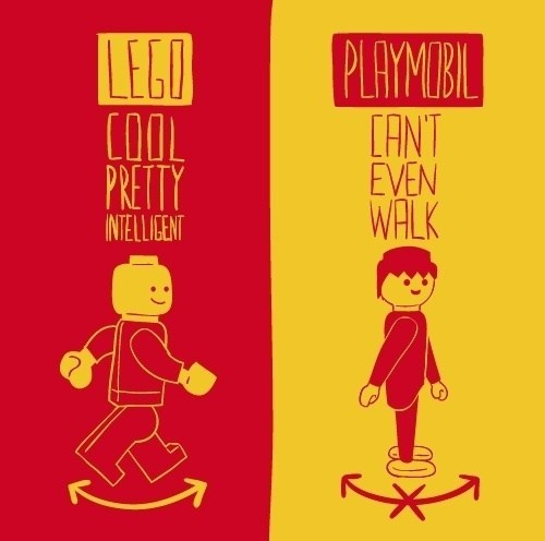 Lego intelligent design Vs Playmobil design