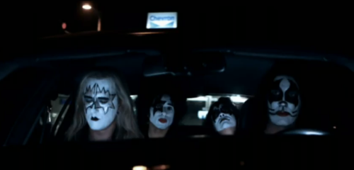 Alice in Chains with KISS makeup