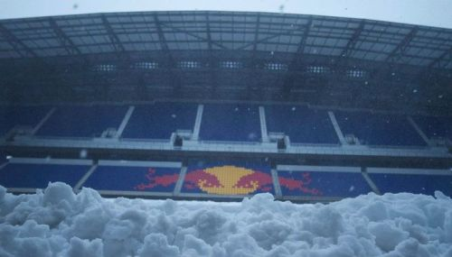 Snow @ Red Bull Arena yesterday. Who's sportin a #sickkit over their coat at @NewYorkRedbulls v @LaGalaxy match today? - DJ (via (2) Snow at Red Bull Arena 10.29.11)