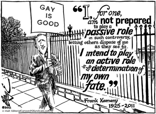 LGBTQ* Political Cartoons  (More on Franklin Kameny)
