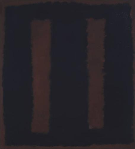Mark Rothko, Black on Maroon, 1958.