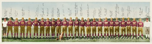 1937 Washington Redskins Team Panoramic (Colorized) Here's a beautiful panoramic of the '37 Redskins which was painstakingly colorized by Gary Chanko and submitted for today's edition of Uni Watch (see Source: uni-watch). Gotta love that mascot dog!
