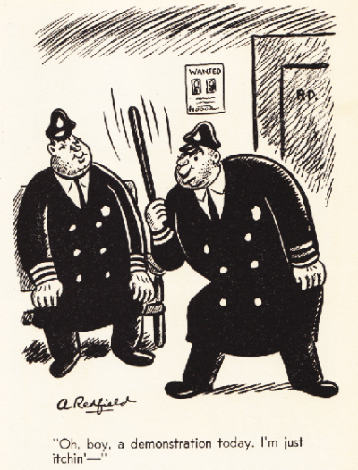A political cartoon from the 1930's, yet still relevant today. Be safe and be peaceful out there all you 99% protestors. Source: Flickr user Michael Kupperman