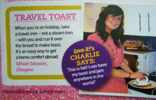 Mhairi, lovey, they have toasters in Foreign now.
