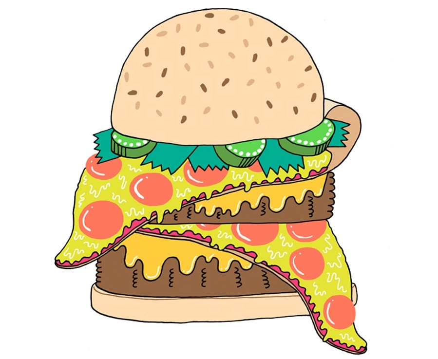 pizzaburger by Mike Perry