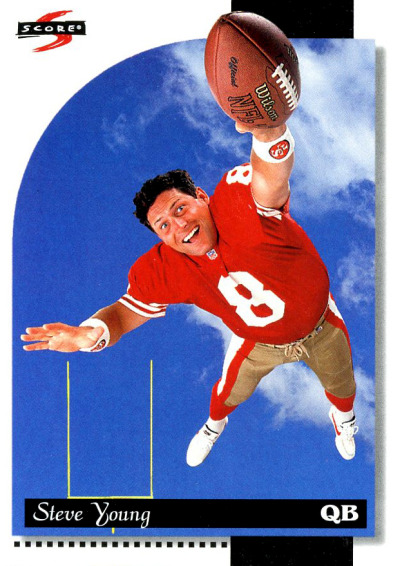 Football Sunday Corny Steve Young card.