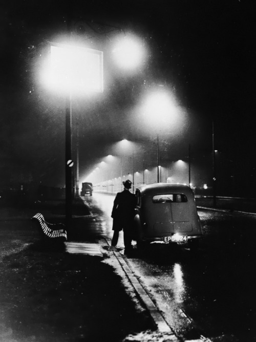 sodium street lighting on the liverpool section of the east lancs road in merseyside, england, 1937 photo by getty images