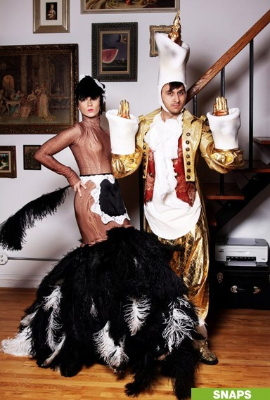 Christian Siriano and Brad Walsh ready to party.