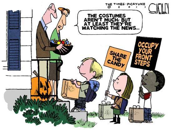 andibob:  Occupy Halloween by Steve Kelley