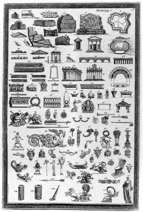 archiveofaffinities: Giovanni Battista Piranesi, Various Etruscan Monuments