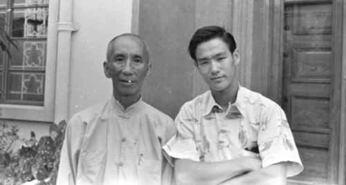 thegiantpost:  You are always a student first.Bruce Lee with his grandmaster, the renowned martial-arts master Ip Man.