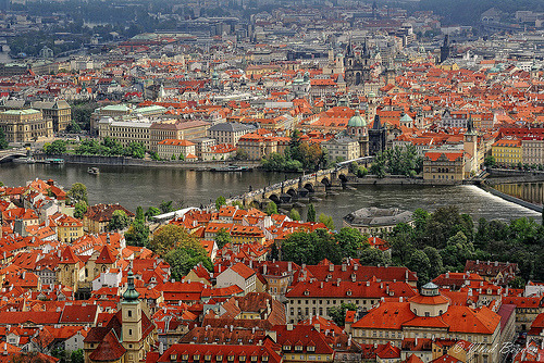 View from Petrin Observation Tower- Prague, Czech Republic (by Vlad Bezden)