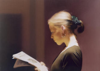 "Photo: Gerhard Richter, Die Lesende.   LONDON — At age 79, Gerhard Richter is the towering figure of Contemporary art on the international scene. ""Panorama,"" a retrospective at Tate Modern, is a landmark that will be remembered long after the show closes on Jan. 8. (from: NYT)"
