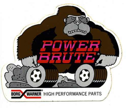 Great hot-rod / drag racing  sticker - Power Brute
