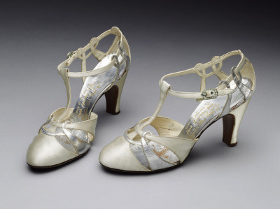 Wedding Sandals (English), V&A Museum, 1935