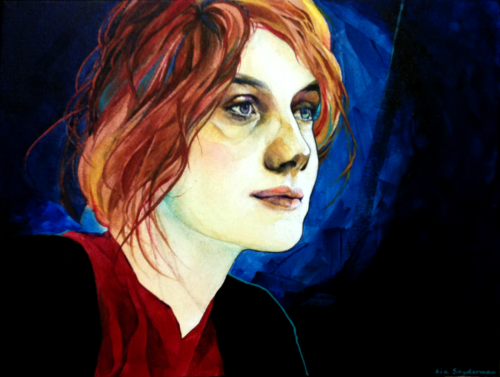 Mélanie Laurent portrait. Acrylic on canvas