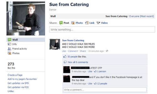 sashalilyrat:  doctorwho:  on teh facebooks.  And this is why I love the internet.  There's now 7 Sue from Catering Facebook pages including a page for her pot & a campaign to make her the next companion. I love fandom sometimes.