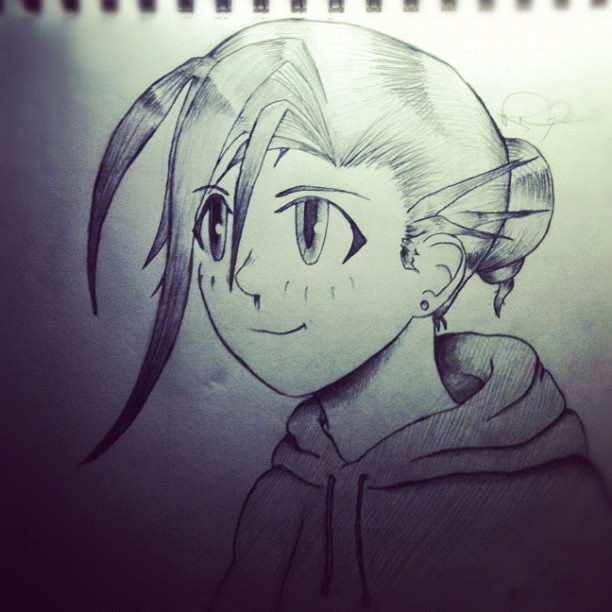 rezadraws:  Angel underscore. (Taken with instagram)