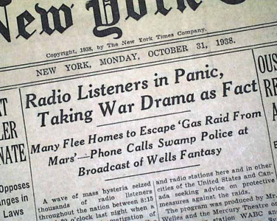 nevver:  First-hand Accounts of Orson Welles's War of the Worlds