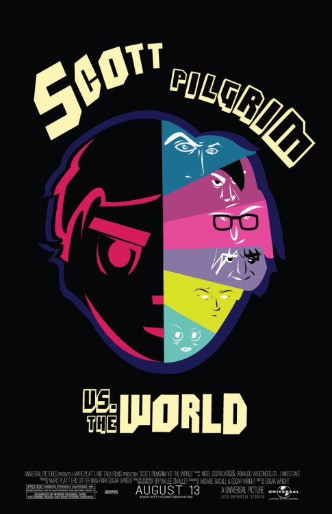fuckyeahmovieposters:  Scott Pilgrim vs. the World by Jocelyn Tsaih