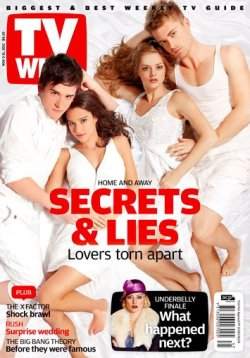 MAGAZINE COVER OF THE DAY - TV WEEK (HOME & AWAY STARS CHARLES COTTIER, RHIANNON FISH, SAMARA WEAVING, LUKE MITCHELL) Source: TV Week