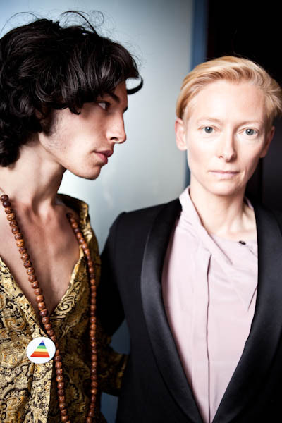 dirtyprettything:  Ezra Miller and Tilda Swinton