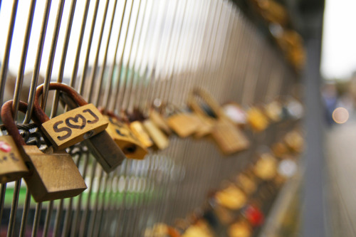 Famous in Paris, the bridges are adorned with thousands of locks that represent the undying love of one person to another.