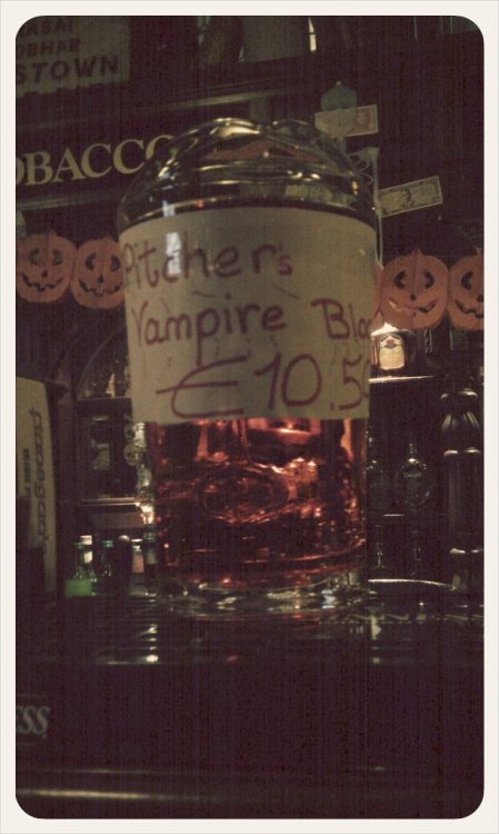 A pitcher of Vampire Blood will be sure to ward off the impending Zombie Apocalypse. (Taken with picplz at Finnegan's Irish Pub in Nuremberg, Germany.)